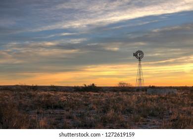 Windmill in the Texas Desert