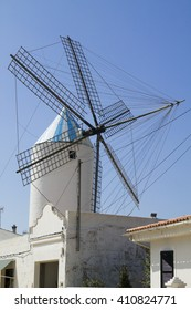 A windmill in the town of Sant Lluis. Minorca, Balearic Islands