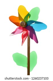 windmill toy garden deco windflower colorful isolated
