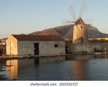 windmill in trapani