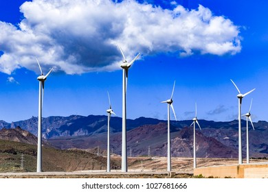 Windmill turbine at Gran Canaria Island, Spain