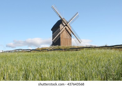 """the windmill type """"Kozlak"""" on the field"""