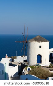 Windmill in the willage of Oia.