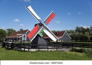 Windmill at Zaanse Schans, Holland
