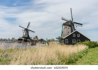 Windmill in Zaanse Schans, Netherlands
