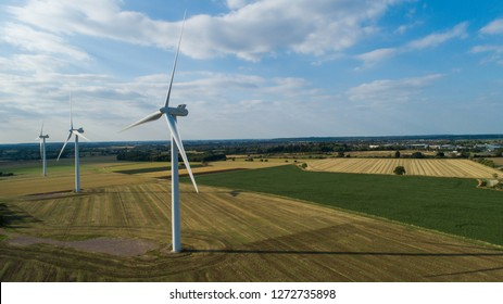 Windmills from Above, Aerial Photo