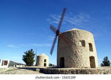 Windmills in Alcublas -Province of Valencia - Spain