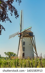 Windmills in the Belgian countryside