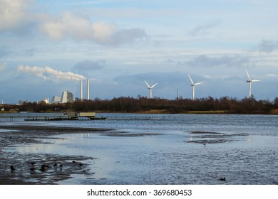 Windmills and biogas production on the east coast of Denmark