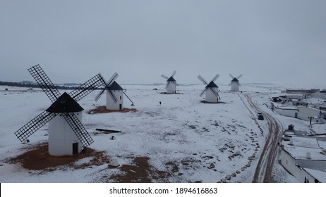 Windmills in Campo de Criptana, Spain