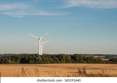 windmills in danish landscape