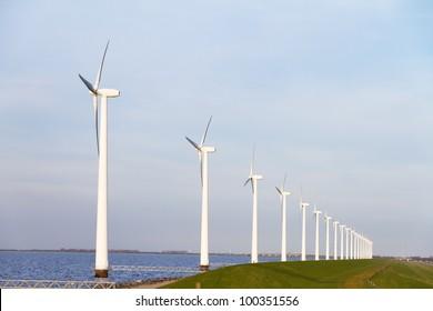 Windmills at the dyke