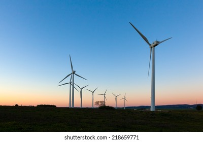 windmills for electric power production, Cadiz, Andalucia, Spain