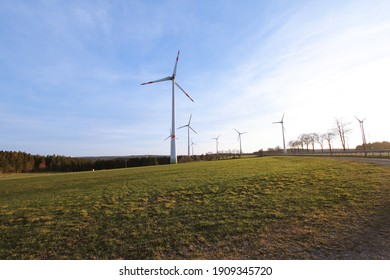 Windmills for electricity production in western germany: