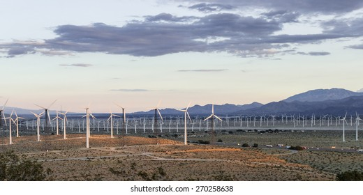 windmills for energy in the San Gorgonio pass in Southern California