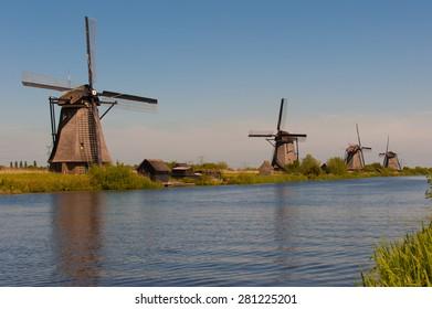 Windmills at Kinderdijk Holland