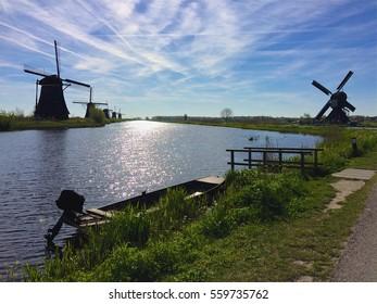 Windmills Kinderdijk, Netherlands