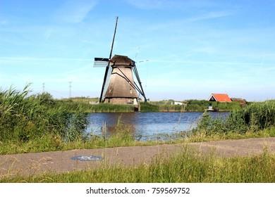 Windmills in Kinderdijk, Netherlands
