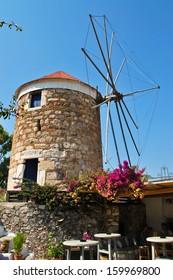 Windmills in Kos Town, Greece