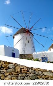 Windmills in Mykonos Greece