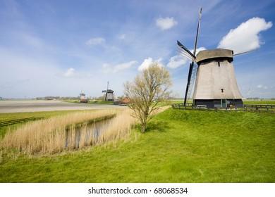 windmills near Alkmaar, Netherlands