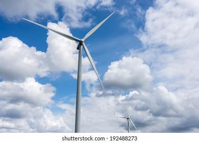 Windmills near Ventspils, Latvia