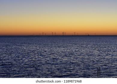 Windmills on the coast of The Oosterschelde