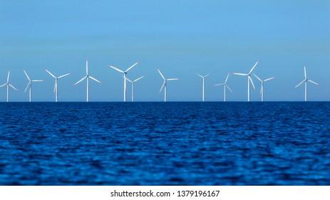 Windmills on the ocean