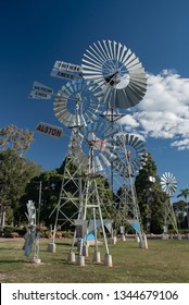 Windmills as part of the Cobb and Co Museum in Toowoomba