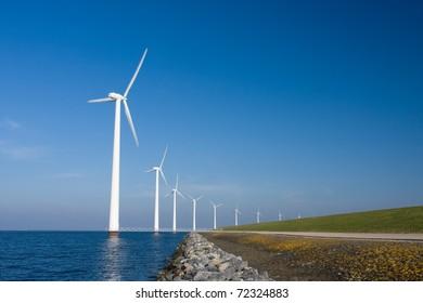 Windmills in a row