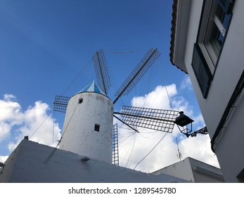 The windmills at Sant Lluís village. Menorca. Balearic islands