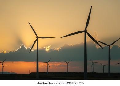 Windmills in Spain