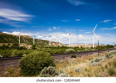 Windmills in Spanish Fork Canyon Utah