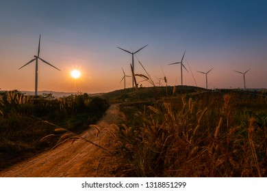Windmills and sunsets