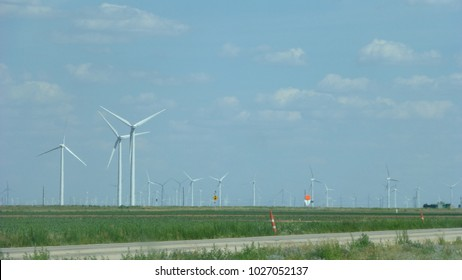 Windmills in West Texas