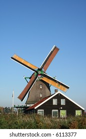 windmills of ZAANSE SCHANS in holland