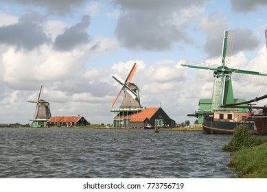 windmills at the Zaanse Schans, Netherlands