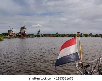 Windmills in Zaanse Schans, Zaandam, North Holland, The Netherlands