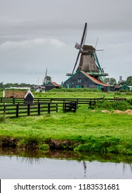 Windmills in Zaanse Schans, Zaandam, North Holland, The Netherlands