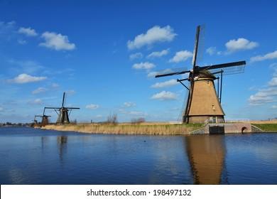 Windmils at Kinderdijk, Netherlands