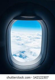 window of airplane