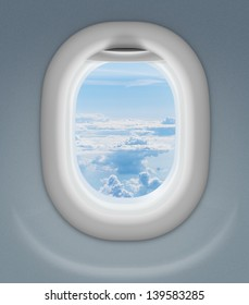 window of airplane or aeroplane