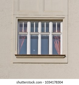 Window of an ancient building. BRNO, 2018.