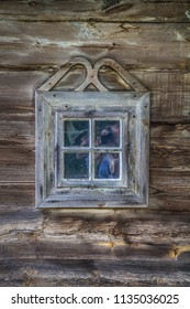 Window of an ancient wooden house