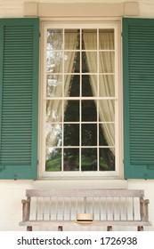 window at Andrew Jackson's hermitage house