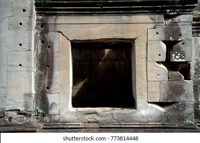 Window in an Angkor temple, Siem Reap, Cambodia