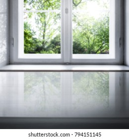 Window background of spring time