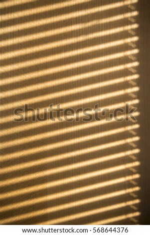 Window Blind Shadows On Wooden Cabin Stock Photo Edit Now