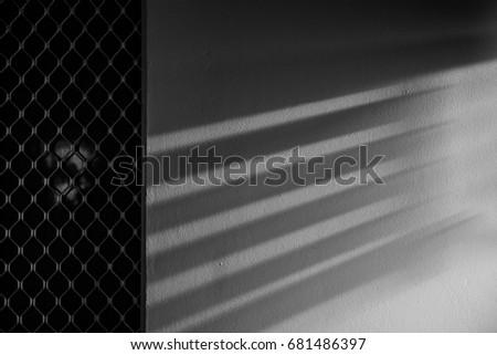 Window Blind Shadows Wall Stock Photo Edit Now 681486397