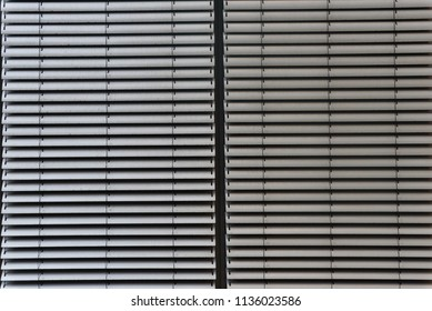 window blinds on office building in business disctrict